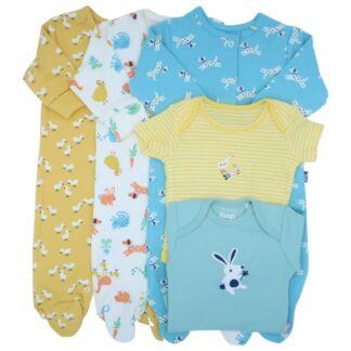 bundle of baby clothes farm life