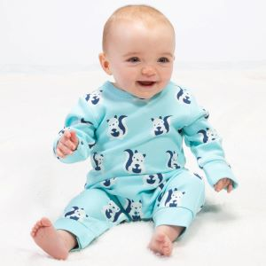 squirrel print footless sleepsuit available to rent