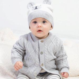 grey baby cardigan to rent