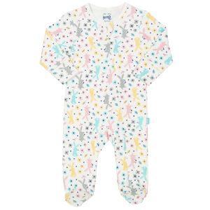12-18 months, ecru unisex sleepsuit