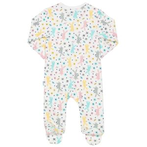 size 12-18 months happy hare organic cotton sleepsuit