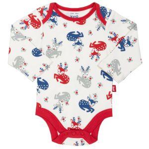 baby clothing rental deer print white bodysuit