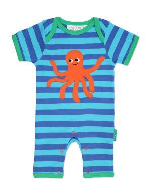0-3 months, organic cotton octopus sleepsuit