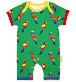 green parrot romper available to rent