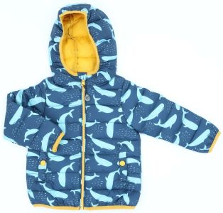 baby jacket blue with whale print rental clothes