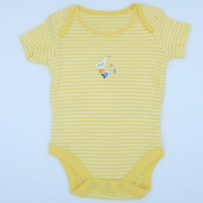 yellow short sleeve organic baby bodysuit to rent