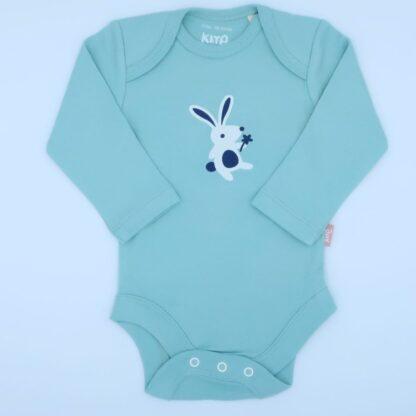 blue organic long sleeve bunny bodysuit to rent