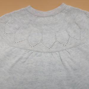 knit detail on back yoke