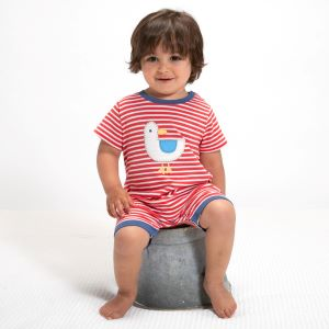 baby clothes to rent seagull red and white striped romper