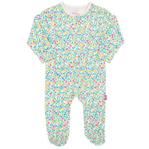 footed wildflower print rental baby sleepsuit
