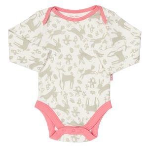 long sleeve baby bodysuit rental with hopping bunny print
