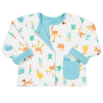 printed reversible baby jacket