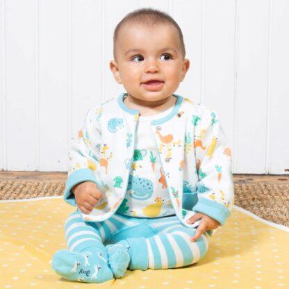 organic baby clothes reversible jacket