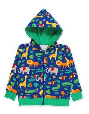 babywear rental organic jungle print hoodie