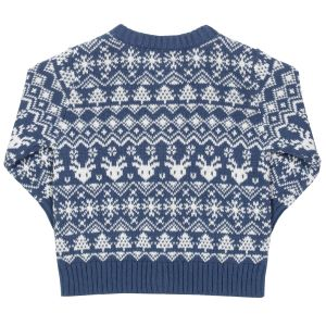 Navy and white festive cardigan baby clothes to rent