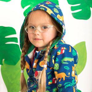 jungle print baby clothing rental hoodie