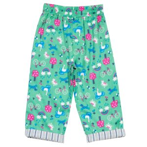Pull up baby clothes rental reversible trousers