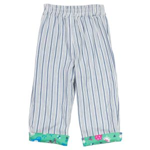Pull up baby clothes rental reversible trousers striped side