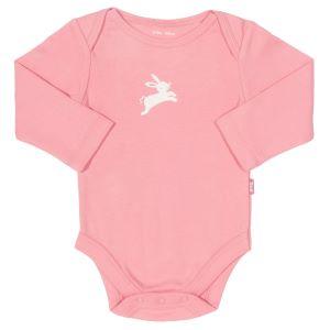 long sleeve babywear rental bodysuit in pink