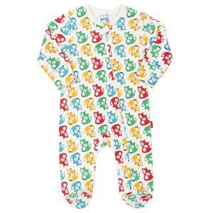 multi coloured rainbow fox print baby clothing rental