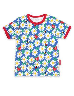 baby clothing rental daisy print organic T-shirt