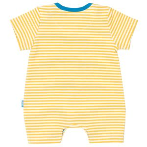 baby clothes rental seahorse romper with yellow and ecru stripe