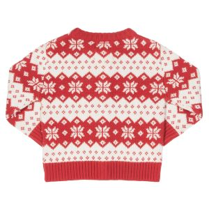 Red and white snowflake cardigan available to rent