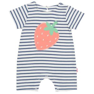 organic baby clothes rental strawberry romper