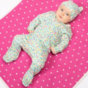 wildflower print rental baby sleepsuit