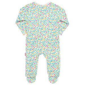 wildflower print rental baby sleepsuit with feet