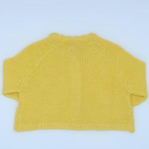 baby clothing rental yellow cardigan 3-6 months