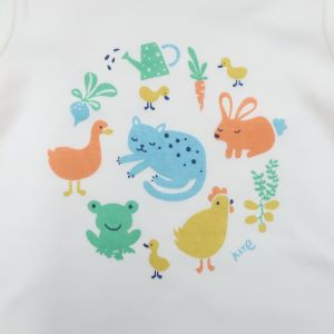 design detail on short sleeve organic baby clothing rental bodysuit