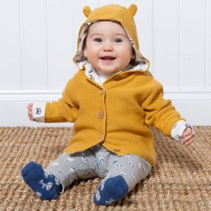 organic knitted baby jacket in size 12-18m to rent