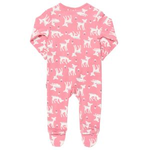 pink deer print baby sleepsuit available to rent