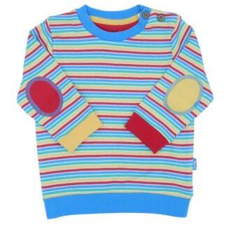 3-6 months organic rainbow sweatshirt baby clothes rental