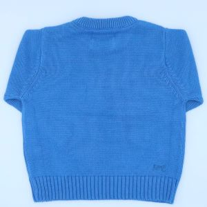 blue knitted baby jumper to rent