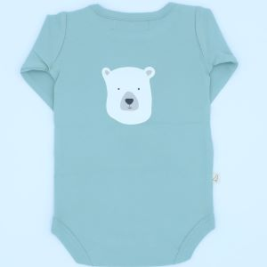 polar bear organic baby clothes rental bodysuit