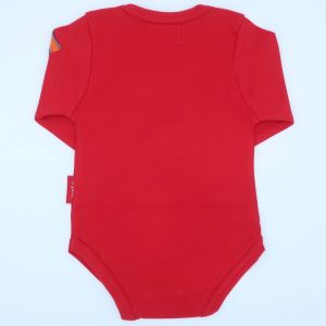 red organic bodysuit baby clothes to rent