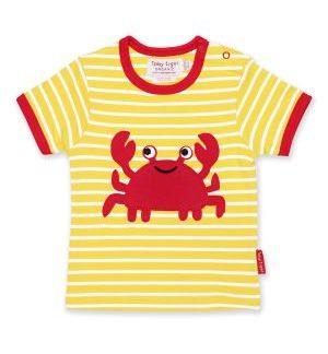 organic crab t-shirt baby clothing rental