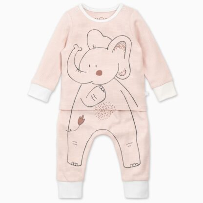 baby bamboo and organic cotton elephant pyjamas