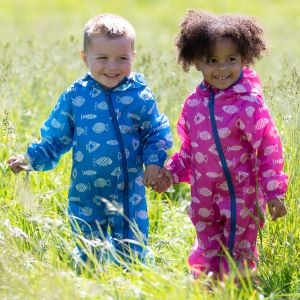 recycled polyester baby puddlepack suits to rent
