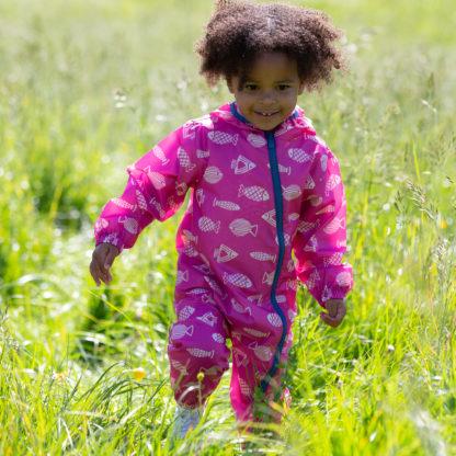 pink baby clothing rental puddlesuit