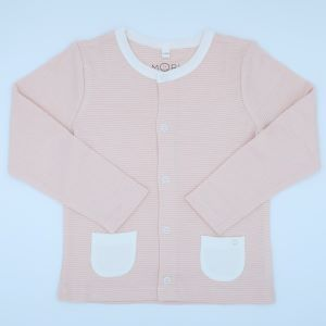 blush pink baby clothes rental cardigan