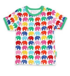 multi coloured elephant t-shirt baby clothing rental