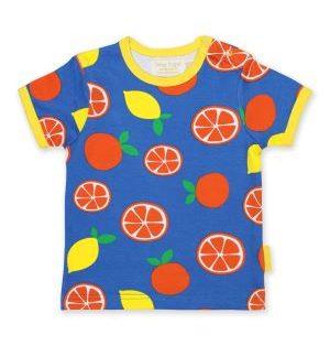 organic oranges and lemon print t-shirt baby clothes rental