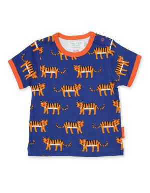 babywear rental tiger print organic t-shirt