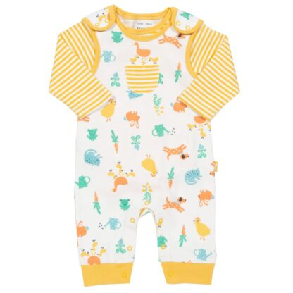 organic baby clothes to rent dungaree and long sleeve bodysuit