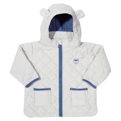 grey lightly wadded baby clothing rental coat