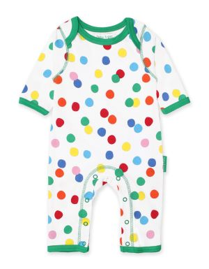 organic dotty print baby clothing rental sleepsuit