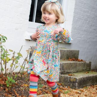 floral printed baby dress in organic cotton to rent